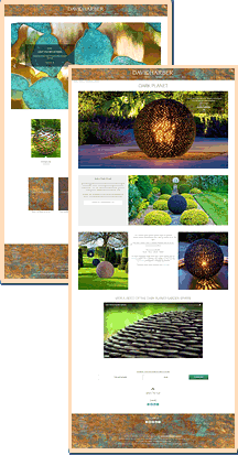 David Harbour Sundials, Garden Sculpture and Water Features website